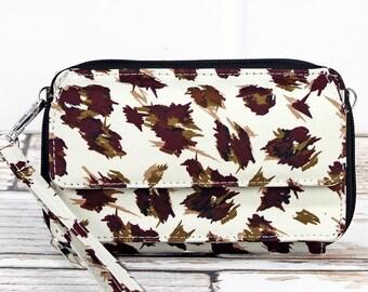 Feline Frenzy Organizing Clutch Crossbody/ Crossbody Handbag/ Crossbody Purse/ Over Shoulder Canvas Bag/ Mother's Day Gift/ Gift for Mom