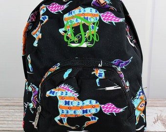 Santa Fe Stallion Preschool Backpack Mini Backpack Purse Backpack Toddler Diaper Bag Backpack Small Backpack
