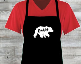 Daddy Bear Father's Day Custom Apron/ Father's Day Gift/ Gift For Men