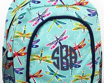 Dragonfly Away Backpack for Teens Personalized Backpack Kids Monogrammed Backpack