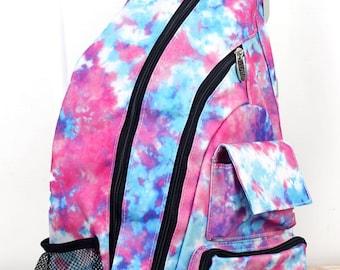California Dreamin' Sling Backpack/ Sling Backpack for Hiking/ Sling Backpack Diaper Bag/ Diaper Bag for Dads/ Festival Backpack