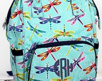 Dragonfly Away Diaper Bag Backpack Gift For Baby Shower Nursing Tote Bag
