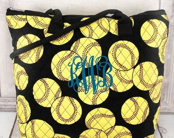 Softball Over Shoulder Quilted Purse For Women Quilted Tote Bag Matching Purse and Wallet Quilted Shoulder Bag