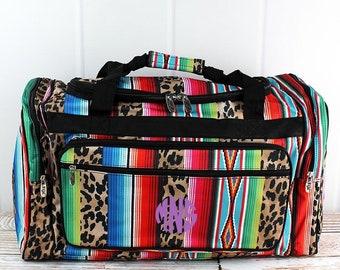 "Wild Serape 23"" Duffle Bag Personalized Cheer Bag Kids Duffle Bag Gym Bag Girlie Carry On"