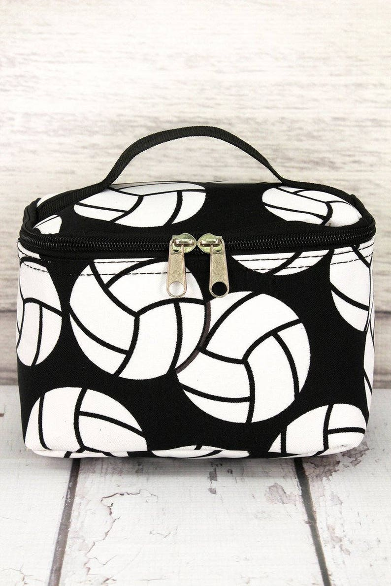 61069ebb8023 Volleyball Top Lid Makeup Bag for Teen Girl Gifts Cosmetic | Etsy