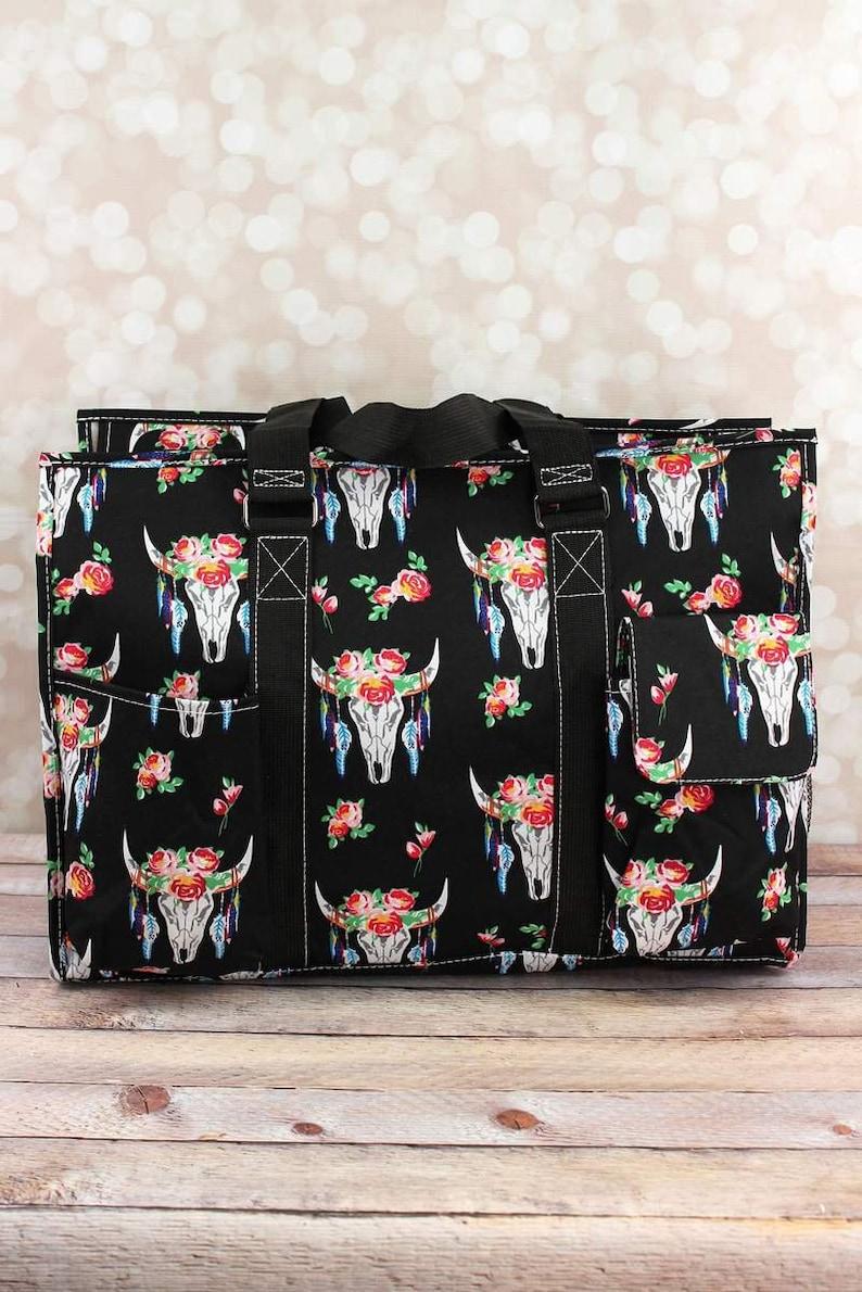 Free Spirit Steer Diaper Bag for Twins in Black or Pink Diaper Bag for Two Diaper Bag for Dad Nursing Bag Craft Storage Craft Tote