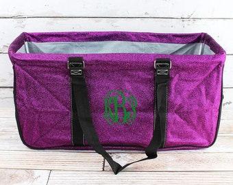 Glitz & Glam Purple Eco Friendly Bag Farmers Market Bag Toy Basket