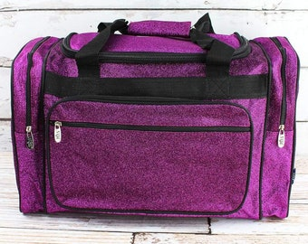 "Glitz & Glam Purple 20"" Duffle Bag Cheer Bag Kids Duffle Bag Gym Bag Girlie Carry On"