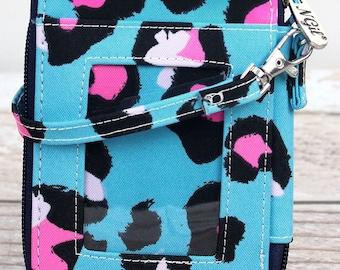 Leopard Lounge Quilted Wristlet/ Wallet Purse/ Keychain Wallet/ Keychain Wristlet/ Key Chain for Women