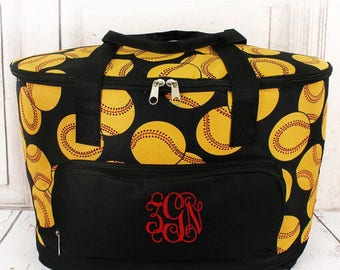 Softball Soft Sided Insulated Cooler Beverage Tote Cooler Tote Bag