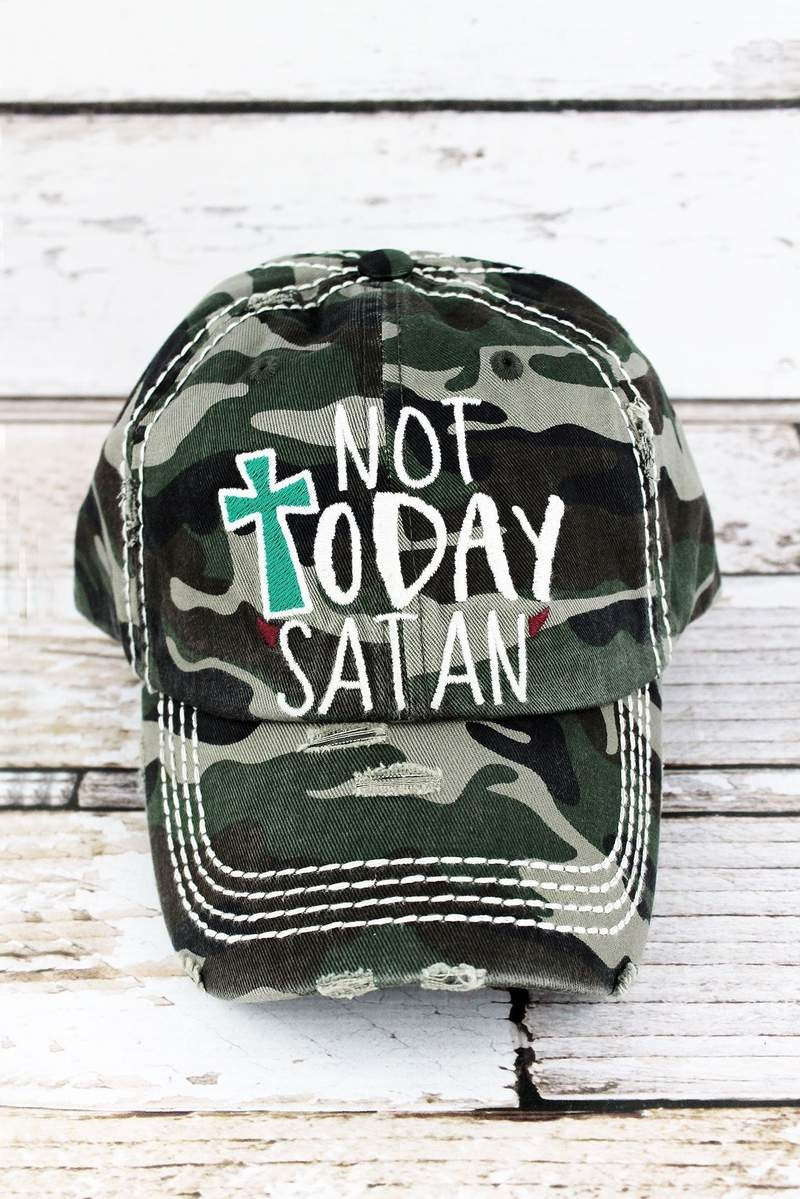 Not Today Satan Decorative Ball Cap in Various Colors  Graphic Baseball Hat    Bad Hair Day Baseball Hat  Mother s Day Gift  Gift for Mom 703913a84fc7
