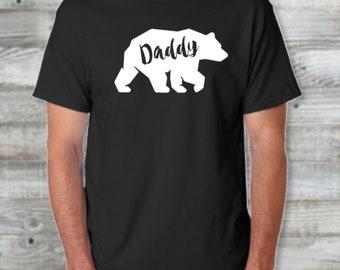 Daddy Bear Father's Day Custom Tshirt/ Father's Day Gift/ Gift For Men/ Fathers Day Gift/ Gift for Dad