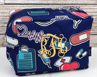 Nurse Love Makeup Bag for Teen Girl Gifts Cosmetic Travel Case Cosmetic Bag Gift For Her