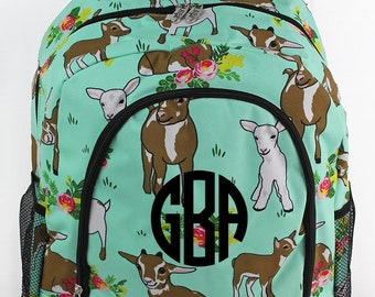 Giddy Goats Backpack for Teens Personalized Backpack Kids Monogrammed Backpack