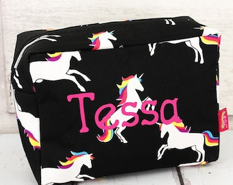 Enchanted Unicorn Makeup Bag for Teen Girl Gifts Cosmetic Travel Case Cosmetic Bag Gift For Her
