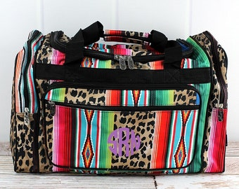 "Wild Serape 20"" Duffle Bag Cheer Bag Kids Duffle Bag Gym Bag Girlie Carry On"