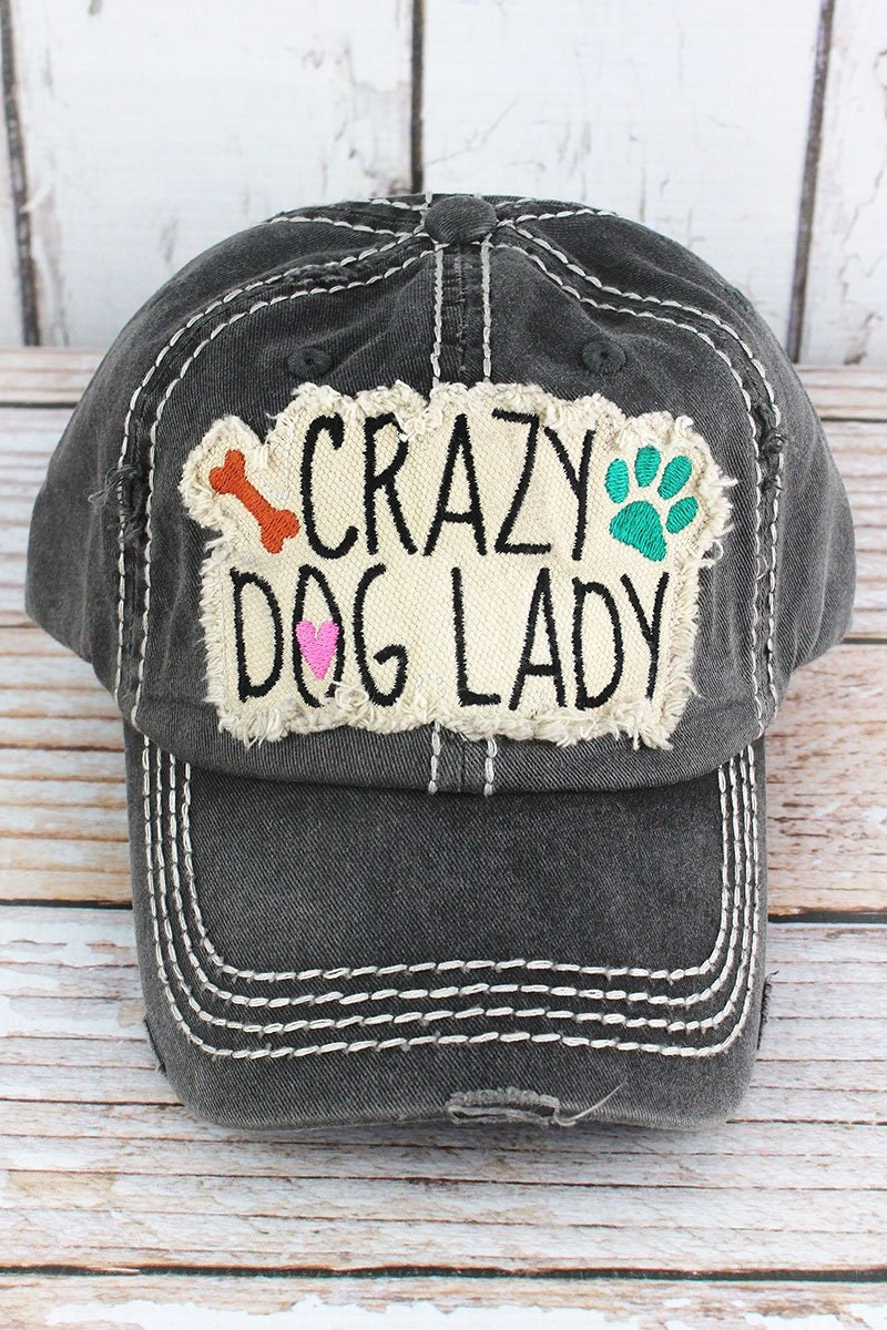 93ed53fd085 Crazy Dog Lady Decorative Ball Cap in Various Colors  Graphic Baseball Hat    Bad Hair Day Baseball Hat  Mother s Day Gift  Gift for Mom