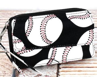 Baseball Organizing Clutch Crossbody Handbag/ Crossbody Purse/ Over Shoulder Canvas Bag/ Mother's Day Gift/ Gift for Mom