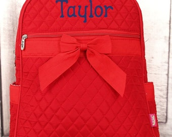 Red Quilted Preschool Backpack Mini Backpack Purse Toddler Diaper Bag Backpack Small Backpack