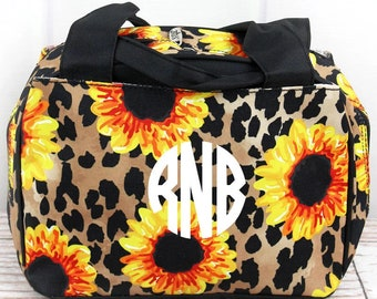 Sunflower Leopard Insulated Lunch Box for School Lunch Bag for Women Lunch Bag for Nurse