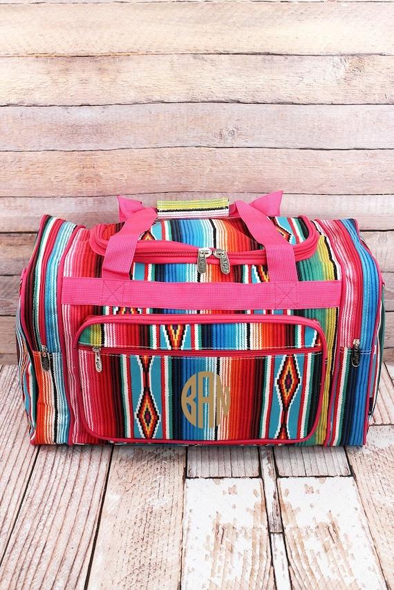 10737d087b06 Southwest Serape 20 Duffle Bag in Pink or Black Trim