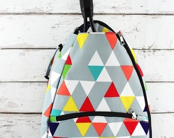 Prism Pop Personalized Tennis Backpack For Women Custom Tennis Gifts For Her Tennis Bag