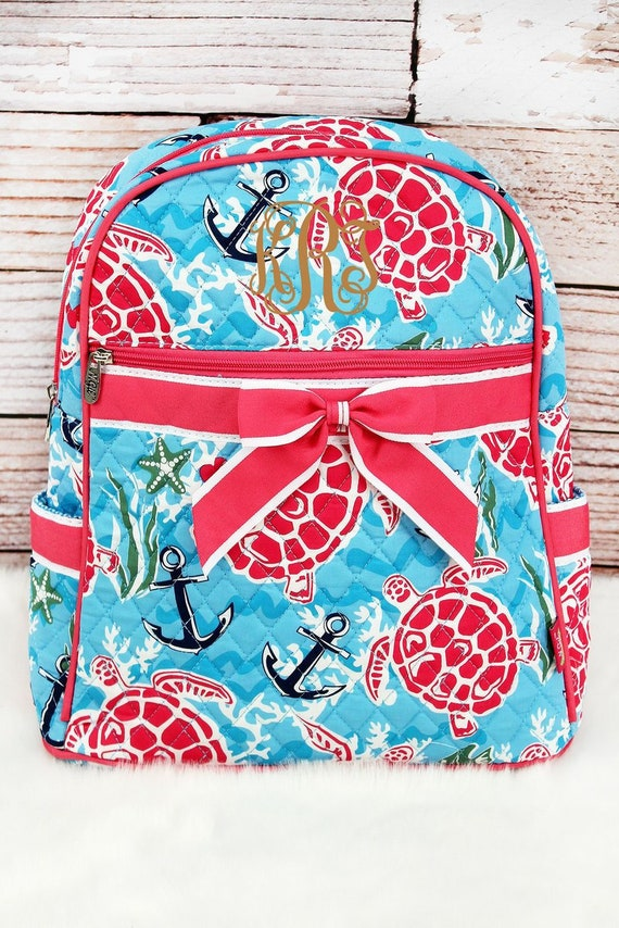 6b0e89964234 Island Delight Quilted Backpack in Pink or Navy Trim  Sling