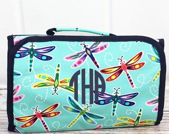 Dragonfly Away Roll Up Cosmetic Clutch Cosmetic Organizer Makeup Bag Teen Girl Gifts