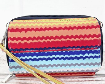 Rainbow Canyon Organizing Clutch Crossbody Handbag/ Crossbody Purse/ Over Shoulder Canvas Bag/ Mother's Day Gift/ Gift for Mom