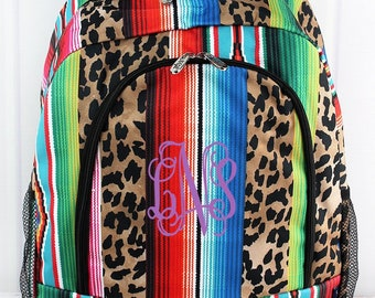 Wild Serape Backpack for Teens Personalized Backpack Kids Monogrammed Backpack