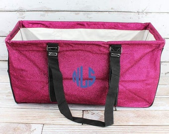 Glitz & Glam Hot Pink Eco Friendly Bag Farmers Market Bag Toy Basket
