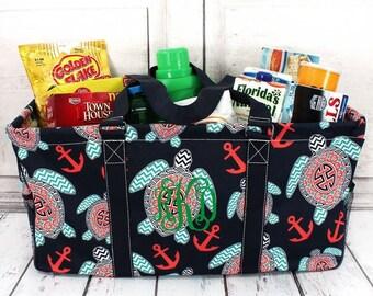 Preppy Under The Sea Eco Friendly Bag Farmers Market Bag Toy Basket