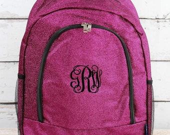 Glitz & Glam Hot Pink Backpack for Teens Personalized Backpack Kids Monogrammed Backpack