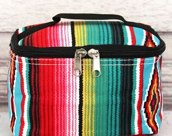 Southwest Serape Top Lid Makeup Bag for Teen Girl Gifts Cosmetic Travel Case Cosmetic Bag Gift For Her
