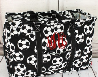Soccer Extra Large Eco Friendly Bag Farmers Market Bag Toy Basket