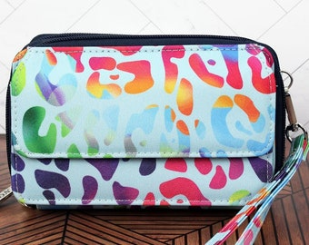 Chasing Rainbows Organizing Clutch Crossbody Handbag/ Crossbody Purse/ Over Shoulder Canvas Bag/ Mother's Day Gift/ Gift for Mom