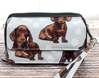 Puppy Love Organizing Clutch Crossbody/ Crossbody Handbag/ Crossbody Purse/ Over Shoulder Canvas Bag/ Mother's Day Gift/ Gift for Mom