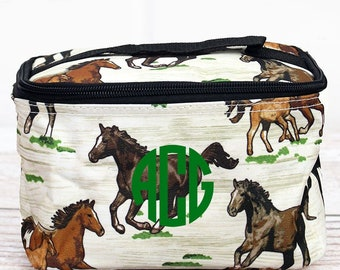 Wild Horses Top Lid Makeup Bag for Teen Girl Gifts Cosmetic Travel Case Cosmetic Bag Gift For Her