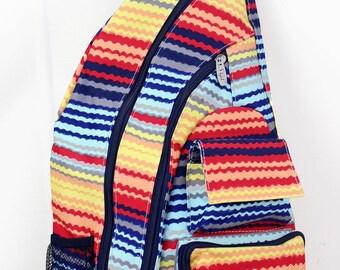 Rainbow Canyon Sling Backpack/ Sling Backpack for Hiking/ Sling Backpack Diaper Bag/ Diaper Bag for Dads/ Festival Backpack