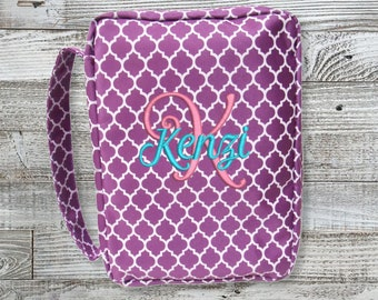 AVAILABLE IMMEDIATELY! Personalized Quatrefoil Bible Cover/ Religious Gift/ Embroidered Bible Cover/ Bible Case/ Bible Covers For Women