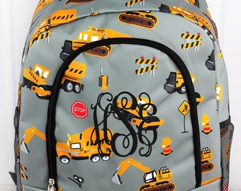 Construction Yard Backpack for Teens Personalized Backpack Kids Monogrammed Backpack