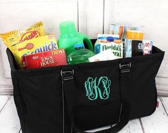 Black Eco Friendly Bag Farmers Market Bag Toy Basket