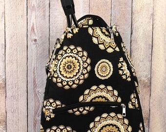 Mandala Sun Personalized Tennis Backpack For Women Custom Tennis Gifts For Her Tennis Bag