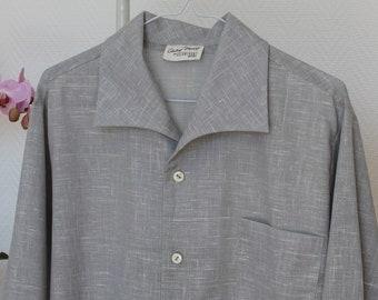 Rockabilly shirt, Vintage style shirt, Shark collar, men's shirt, Vintage reproduction, 1950's menswear, Size Medium/Large