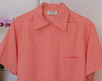 Rockabilly shirt, Casino style shirt, Vintage style shirt, men's shirt, fleck shirt, Vintage reproduction, 1950's menswear, Size Small