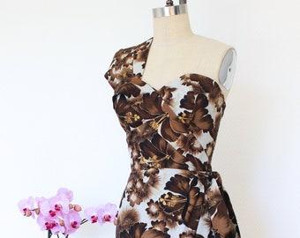 Hawaiian dress, Pinup dress, Tiki dress, Sarong dress, Shaheen reproduction dress, Oceanfront dress. Size M and XL