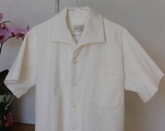 Rockabilly shirt, Velvet shirt, Vintage style shirt, men's shirt, Vintage reproduction, 1950's menswear, Size Medium