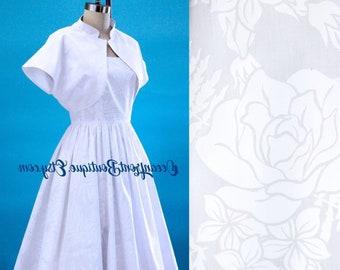 Hawaiian dress with bolero, Pinup dress, Tiki dress, Hawaiian Wedding, Rockabilly dress, Rockabilly bride, Oceanfront dress, Size L