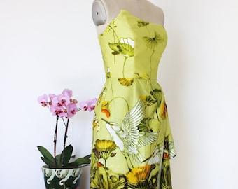 Hawaiian dress, Pinup dress, Tiki dress, Sarong dress, Rockabilly dress, Surfriders reproduction dress, Oceanfront dress. Size small.