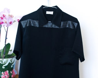 Rockabilly shirt, Casino style shirt, Vintage style shirt, men's shirt, Two tone shirt, Vintage reproduction, 1950's menswear, Size M, L
